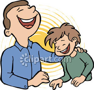 Boy kid and his. Clipart kids laughing