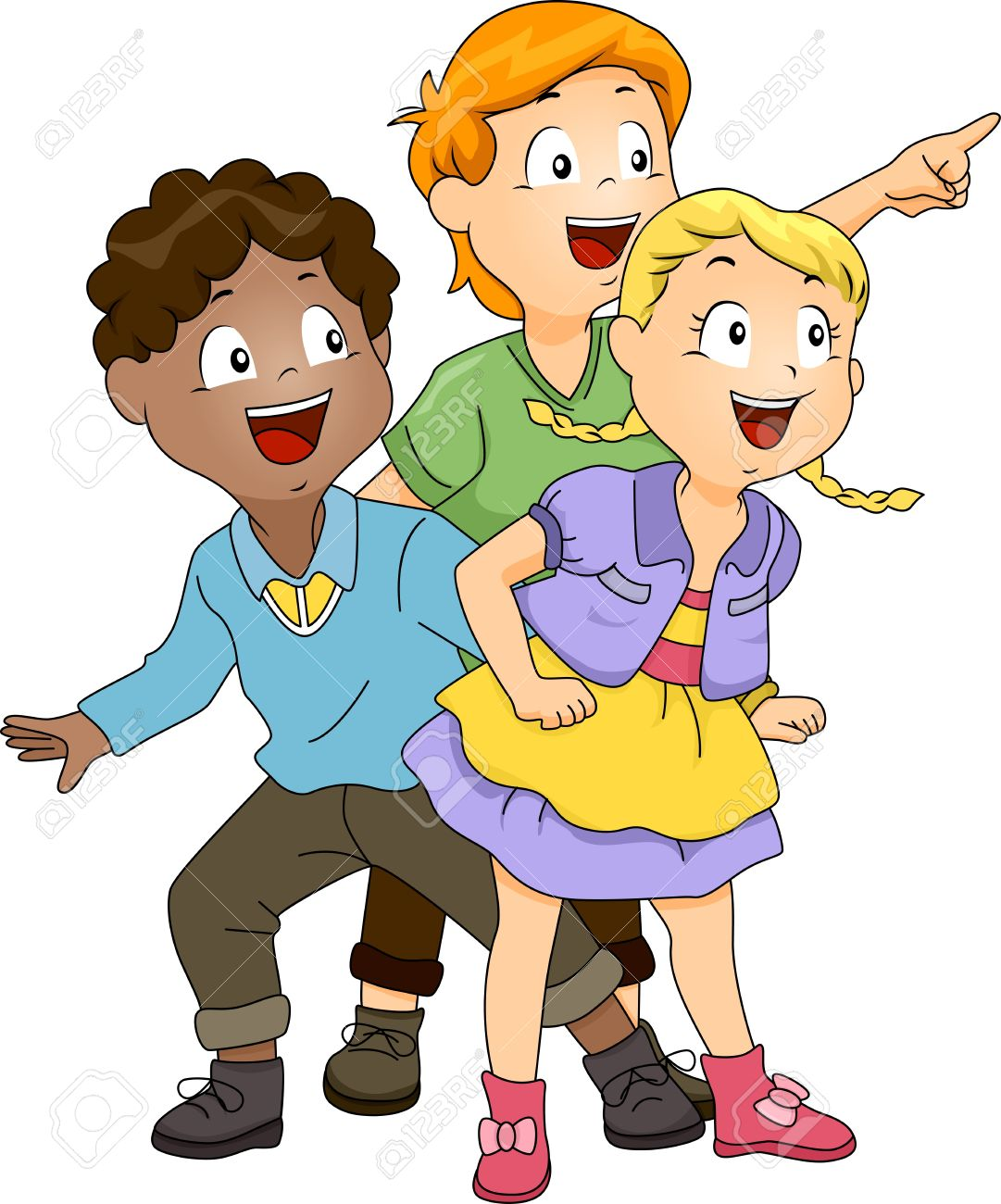 Clipart kids laughing. In class clipartfest excited