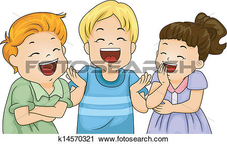 Clipart kids laughing. Clip art and illustration