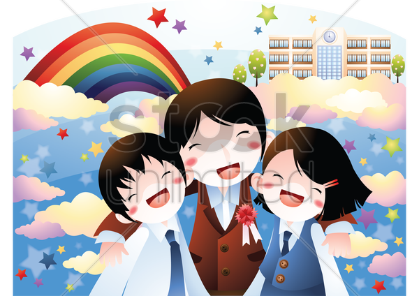 Clipart kids laughing soung svg download School kids laughing together Vector Image - 1530110 | StockUnlimited svg download