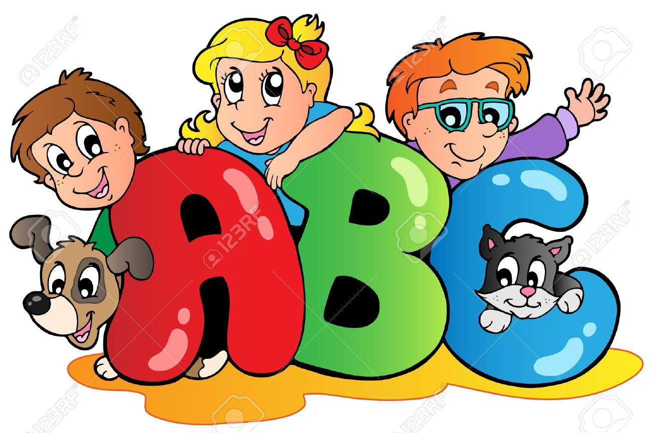 Clipart kids letters image library download Childrens alphabet clipart - ClipartFox image library download