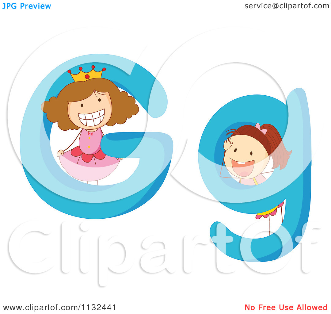Clipart kids letters graphic stock Cartoon Of Alphabet Kids And Letters G - Royalty Free Vector ... graphic stock
