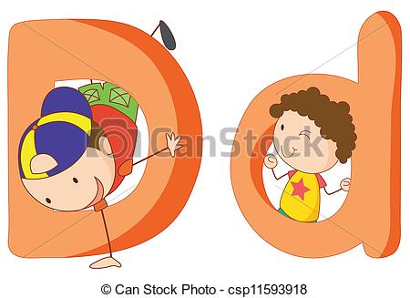 Clipart kids letters jpg transparent library Vector Clip Art of Kids in the letters series - Illustration of ... jpg transparent library