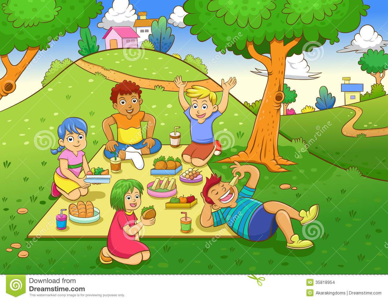 Clipart kids on a picnic image royalty free download Picnic park clipart 7 » Clipart Portal image royalty free download