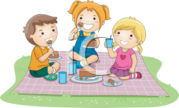 Clipart kids on a picnic clipart royalty free download iCLIPART - Royalty Free Clipart Image of a Kids Picnic | Summer ... clipart royalty free download