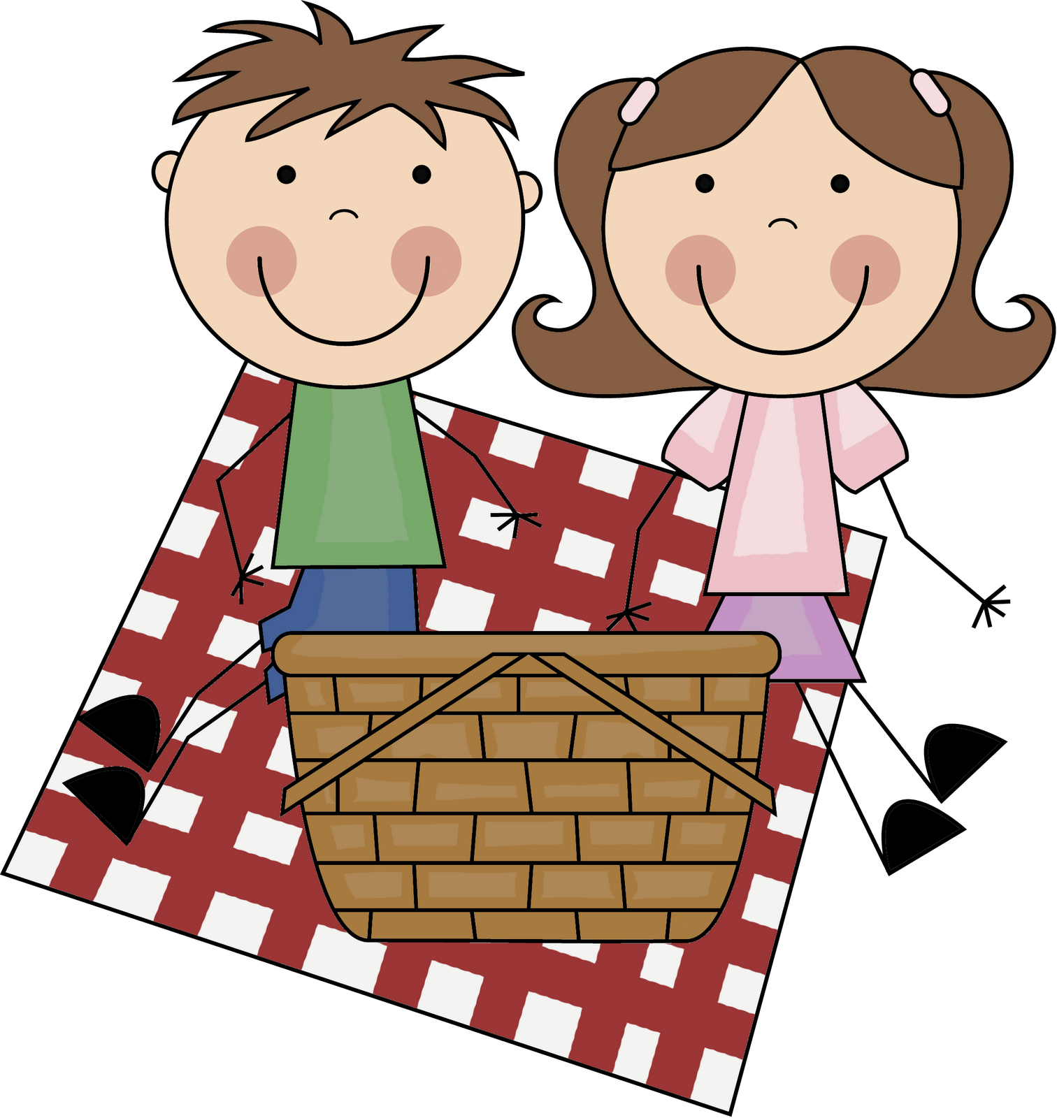 Clipart kids on a picnic freeuse Kids Picnic Clipart - Clip Art Library freeuse