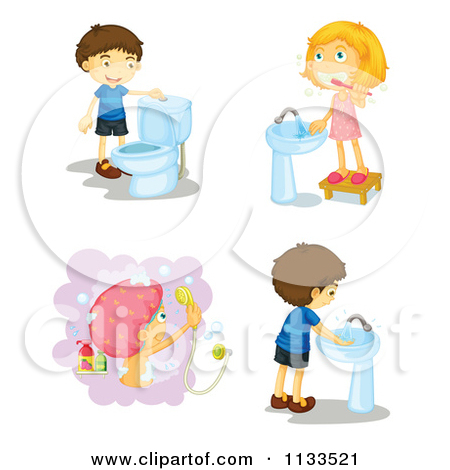 Clipart kids washing hands clip art freeuse stock Royalty Free Stock Illustrations of Washing Hands by colematt Page 1 clip art freeuse stock