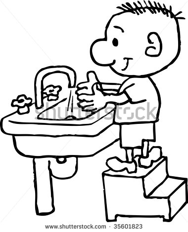 Clipart kids washing hands jpg royalty free library Restroom Washing Hands In Clipart - Clipart Kid jpg royalty free library