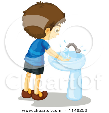 Clipart kids washing hands clip art black and white download Restroom Washing Hands In Clipart - Clipart Kid clip art black and white download