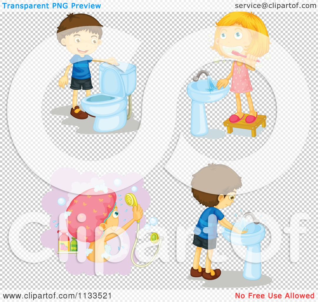 Clipart kids washing hands clip stock Kids washing hands bathroom clipart - ClipartFest clip stock