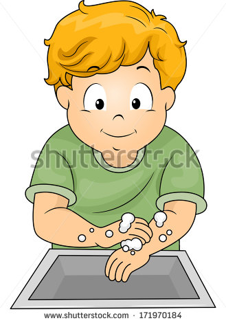 Clipart kids washing hands clipart library stock Washing Hands Cartoon Stock Images, Royalty-Free Images & Vectors ... clipart library stock