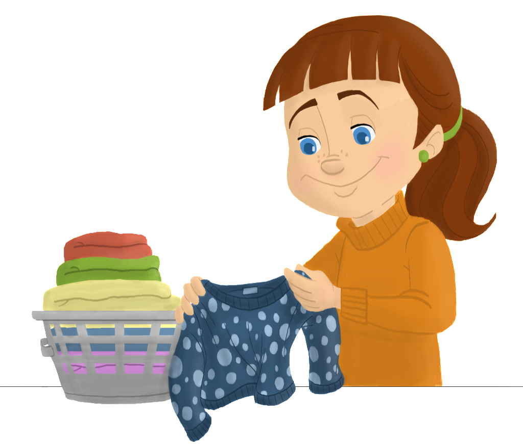 Clipart kids washing hands graphic freeuse library Folded Laundry Clipart | Ero Electronic | Cleaning Clipart ... graphic freeuse library