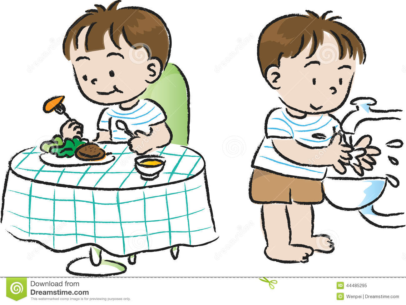Clipart kids washing hands image royalty free library Clipart kids washing hands - ClipartFest image royalty free library