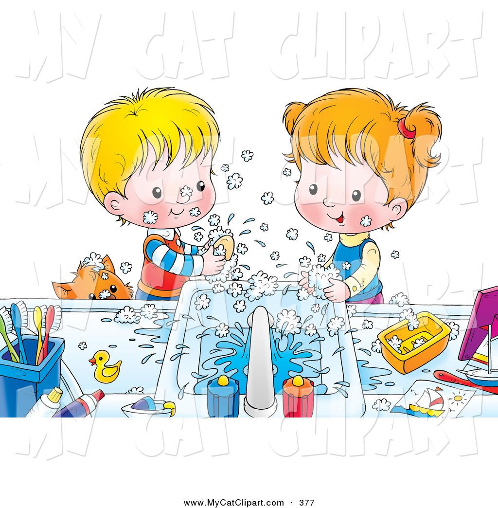 Clipart kids washing hands svg download Clipart kids washing hands - ClipartFest svg download