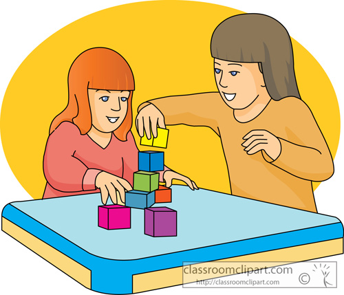 Clipart kids with blocks svg free Kids playing in class clipart - ClipartNinja svg free