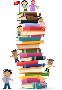 Clipart kids with books vector free Clipart kids books - ClipartFest vector free