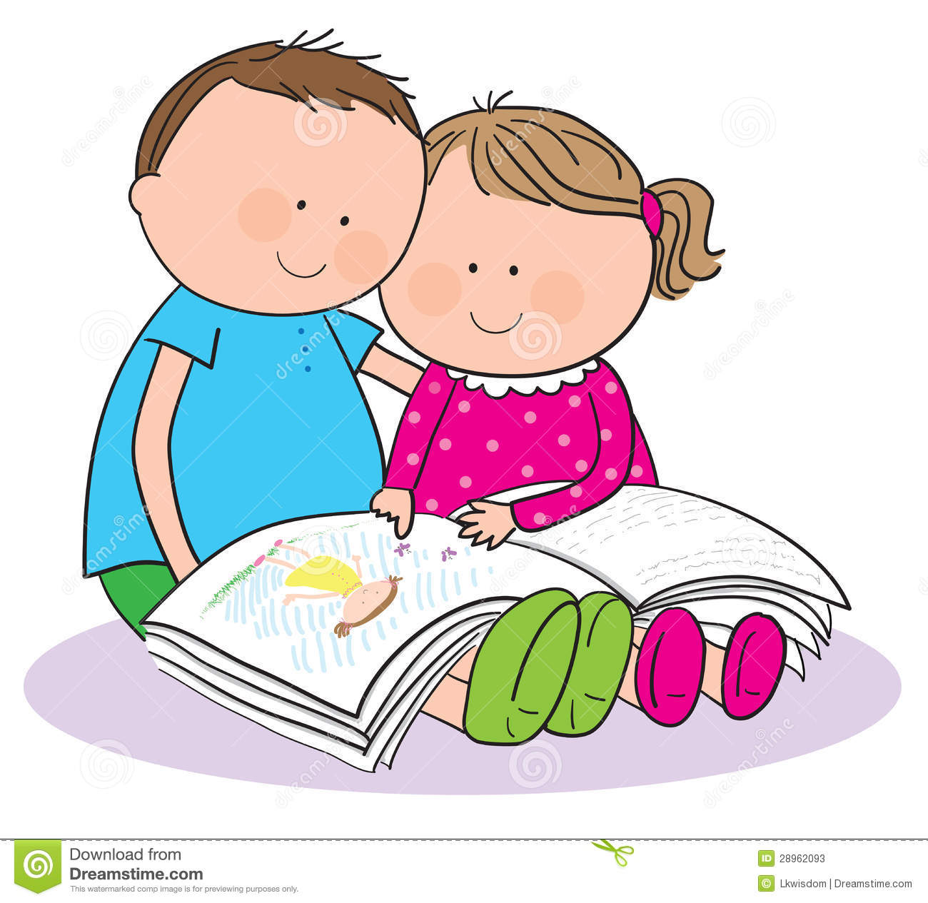 Clipart kids with books clip free Clipart kids with books - ClipartFest clip free