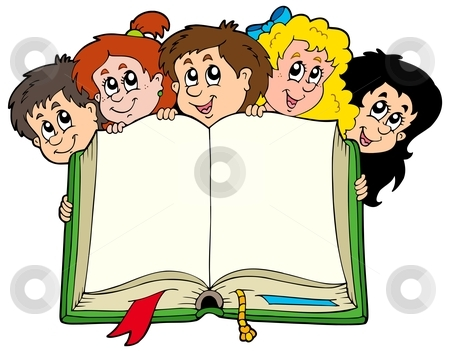 Clipart kids with books png download Clipart kids and books - ClipartFest png download