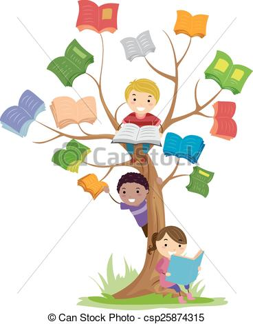 Clipart kids with books svg royalty free download Clipart images of kids on books - ClipartFest svg royalty free download