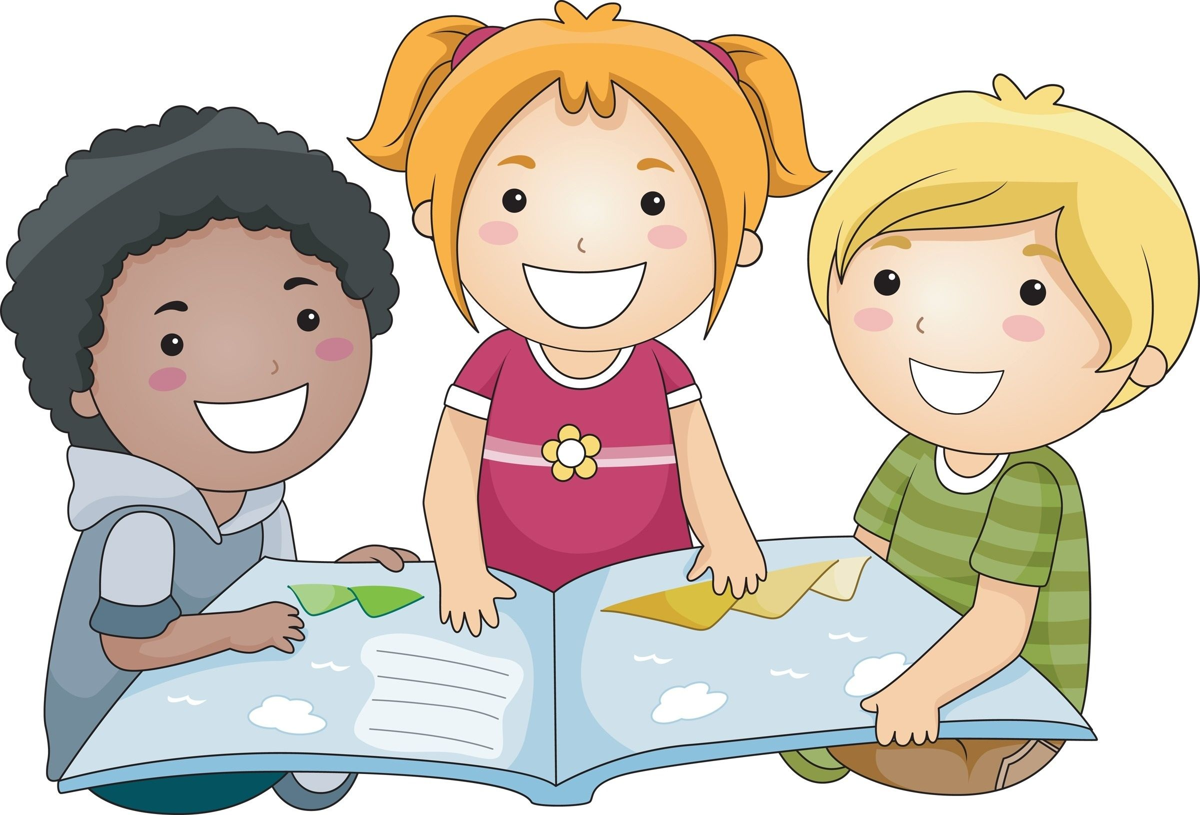 Group of kids clipart clip library download Group Of Children Writing Clipart | Letters Format with Group Of ... clip library download