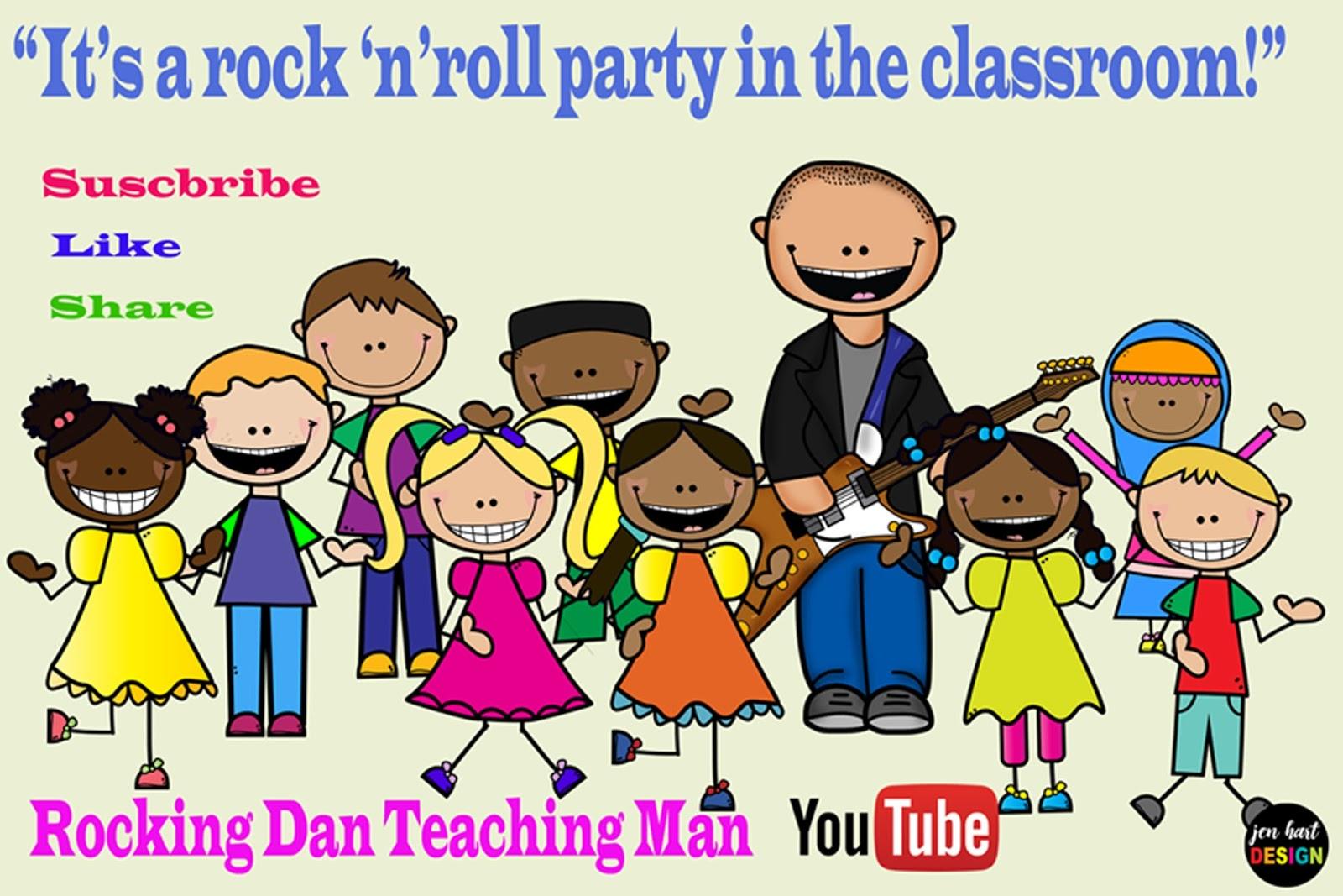 Clipart kindergarten teacher man png library Rocking Dan Teaching Man png library