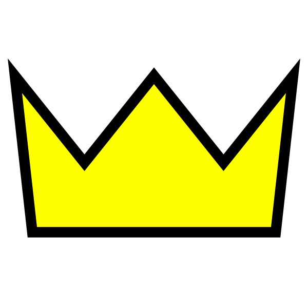 Kid clothing king icon. Crown and stars clipart