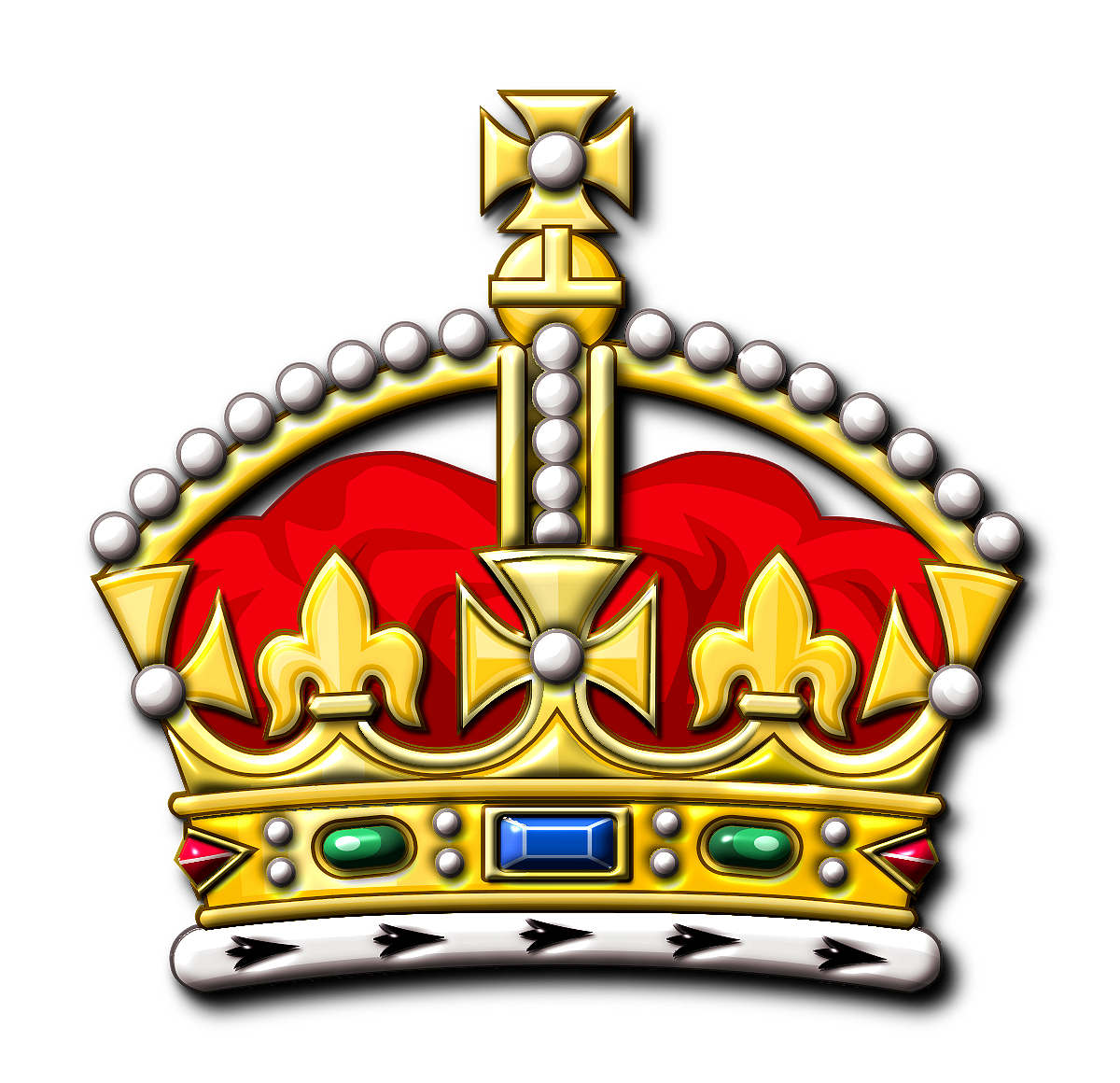 British crown clipart png transparent library King Crown Clipart - Clipart Kid png transparent library