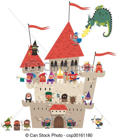 Clipart kingdom. Vector of small on