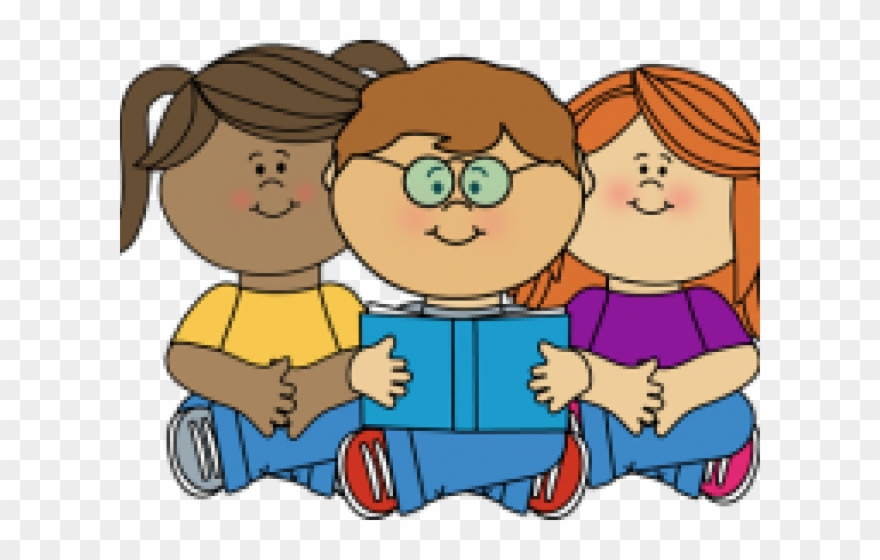 Kids reading clipart clip free library Kids Reading Clipart - Reading Corner Clip Art - Png Download ... clip free library