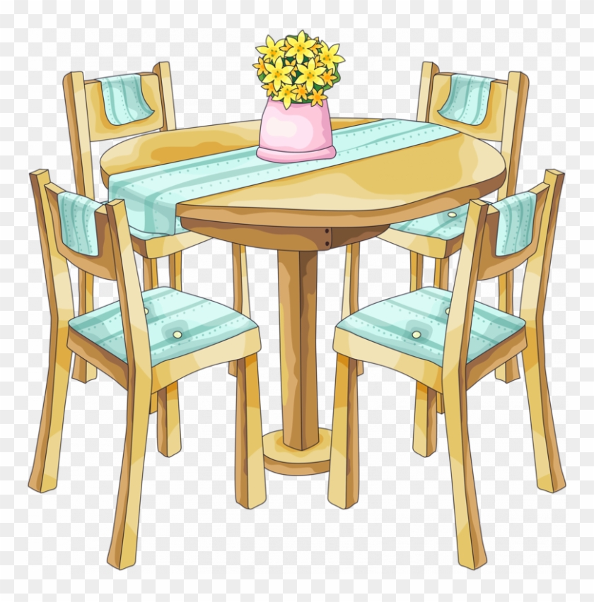 Clipart kitchen table jpg freeuse download Clipart Dining Table Bg - Dining Room Png Clipart, Transparent Png ... jpg freeuse download