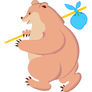 Clipart knapsacl picture library Bear with Knapsack clipart, cliparts of Bear with Knapsack free ... picture library