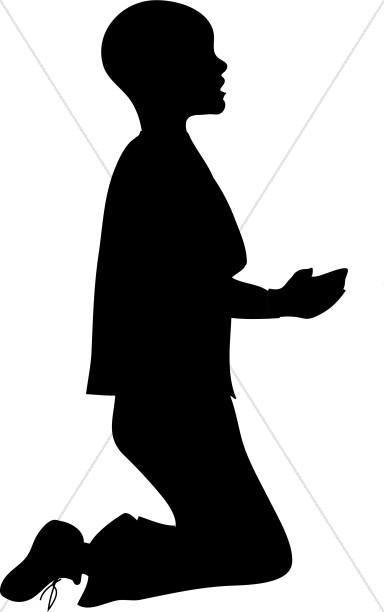 Kneeling in prayer clipart jpg royalty free Boy Kneeling in Silhouette Clipart | Prayer Clipart jpg royalty free