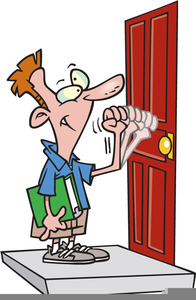 Person knocking on door clipart