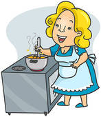 Clipart kochen. Cooking illustrations and stock
