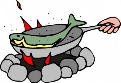 Clipart kochen. Fish and chips clip