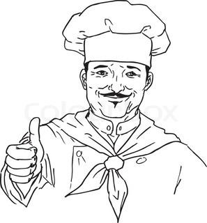 Clipart kochen kostenlos graphic black and white stock Essen-Icon mit Chef-Hut und Küche-utensil | Vektorgrafik | Colourbox graphic black and white stock