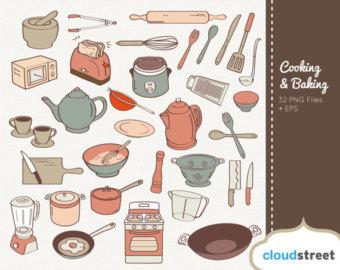 Clipart kochen und backen banner transparent stock Cooking clip art | Etsy banner transparent stock
