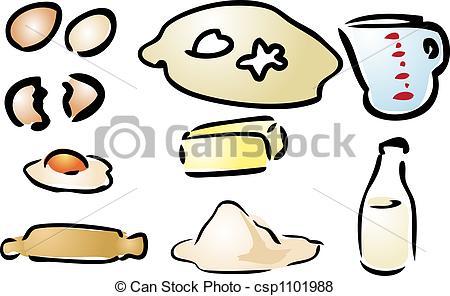 Clipart kochen und backen royalty free Stock Illustration von backen, Bestandteile, Verschieden, Kochen ... royalty free