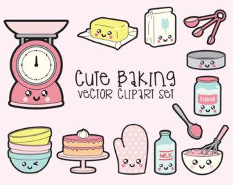 Clipart kochen und backen graphic free stock Baking clip art set | Etsy graphic free stock