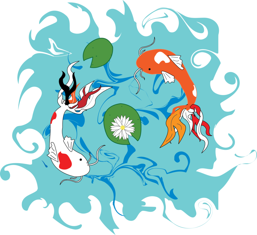 Clipart koi fish graphic freeuse download Koi Fish Pond by DylanSpider on DeviantArt graphic freeuse download