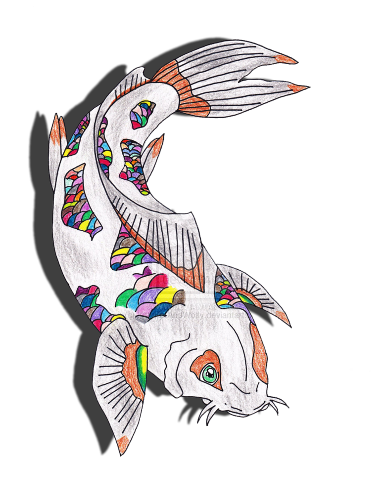 Clipart koi fish vector transparent rainbow koi fish drawing by KittyKatAndWolfy on DeviantArt vector transparent