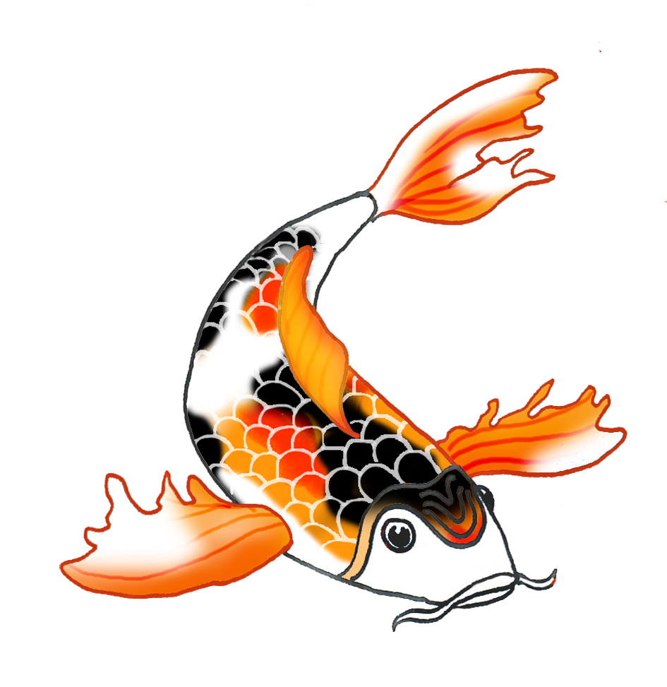 Pond fish clipart vector royalty free 28+ Collection of Koi Clipart | High quality, free cliparts ... vector royalty free