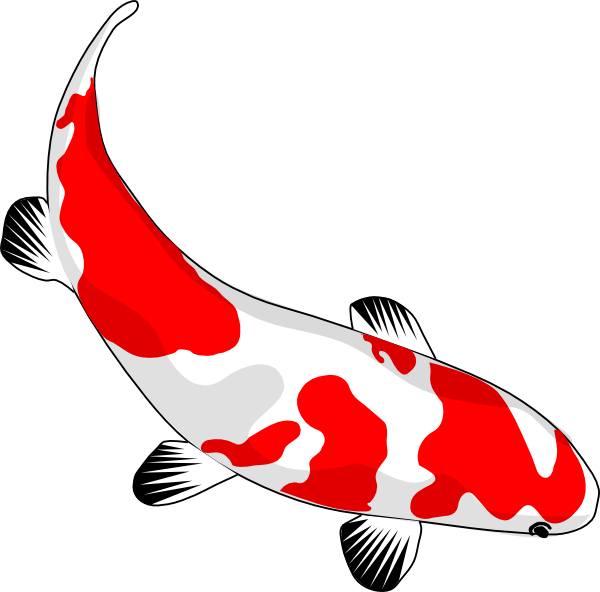 Pond fish clipart vector black and white stock Koi Fish Clip Art at Clker.com - vector clip art online, royalty ... vector black and white stock