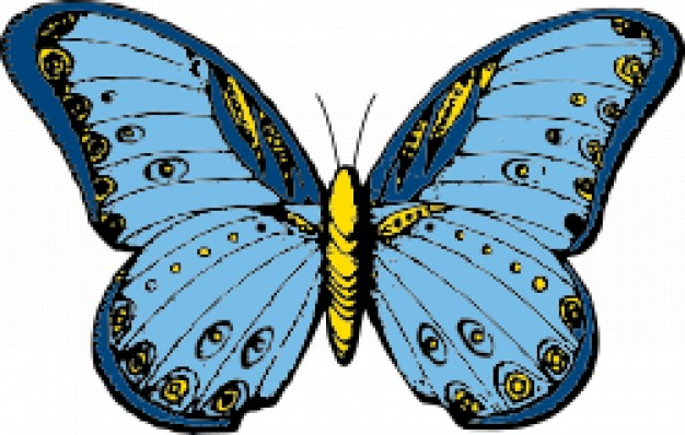 Clipart kostenlos schmetterling jpg transparent stock Vektor-Cliparts Schmetterling | Download der kostenlosen Vektor jpg transparent stock