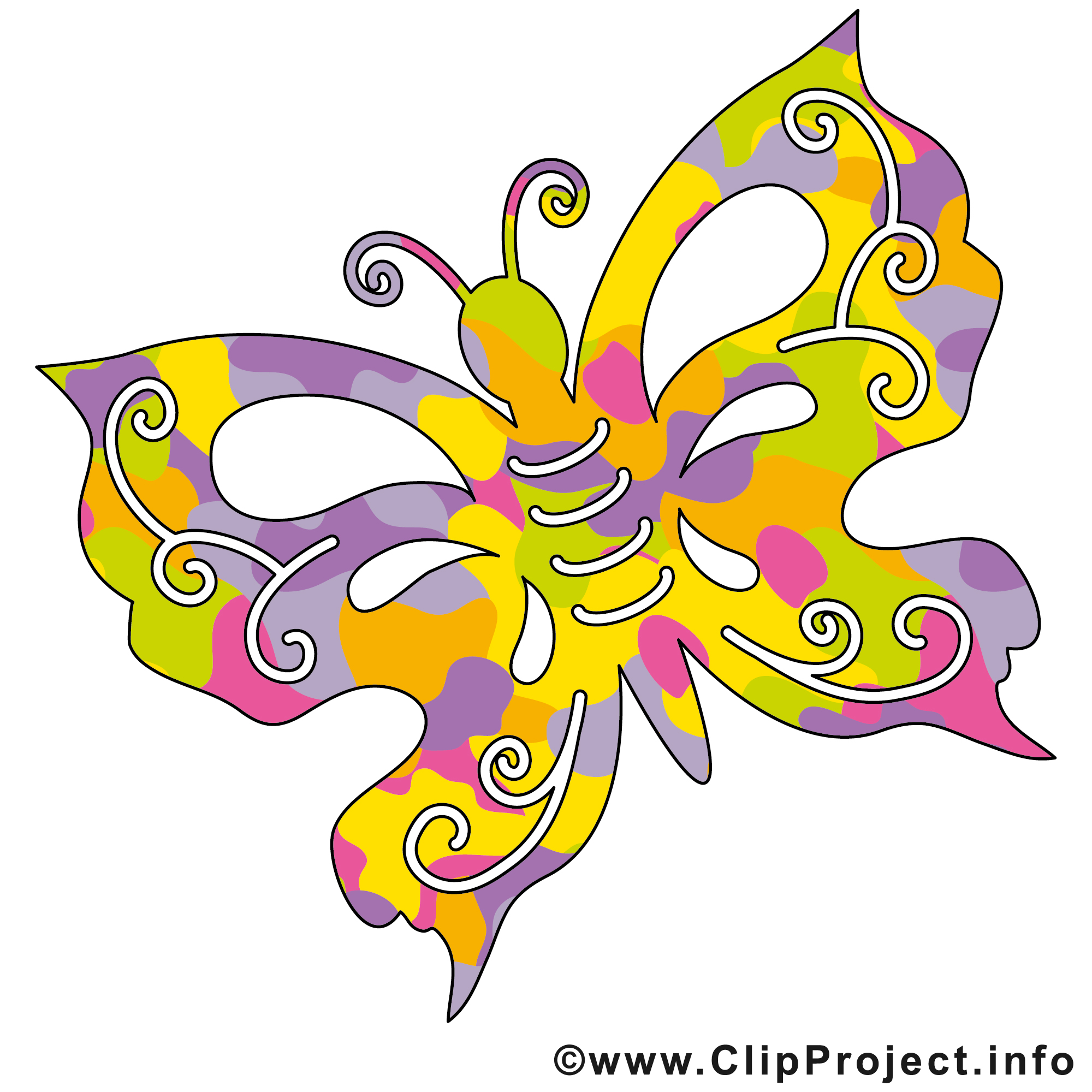 Clipart kostenlos schmetterling vector black and white stock Schmetterling Clip Art - Sommer Bilder gratis vector black and white stock