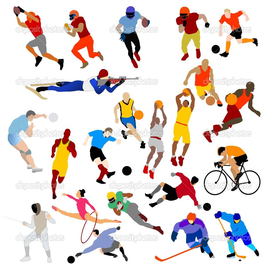 Clipart kostenlos sport. Sports black and white