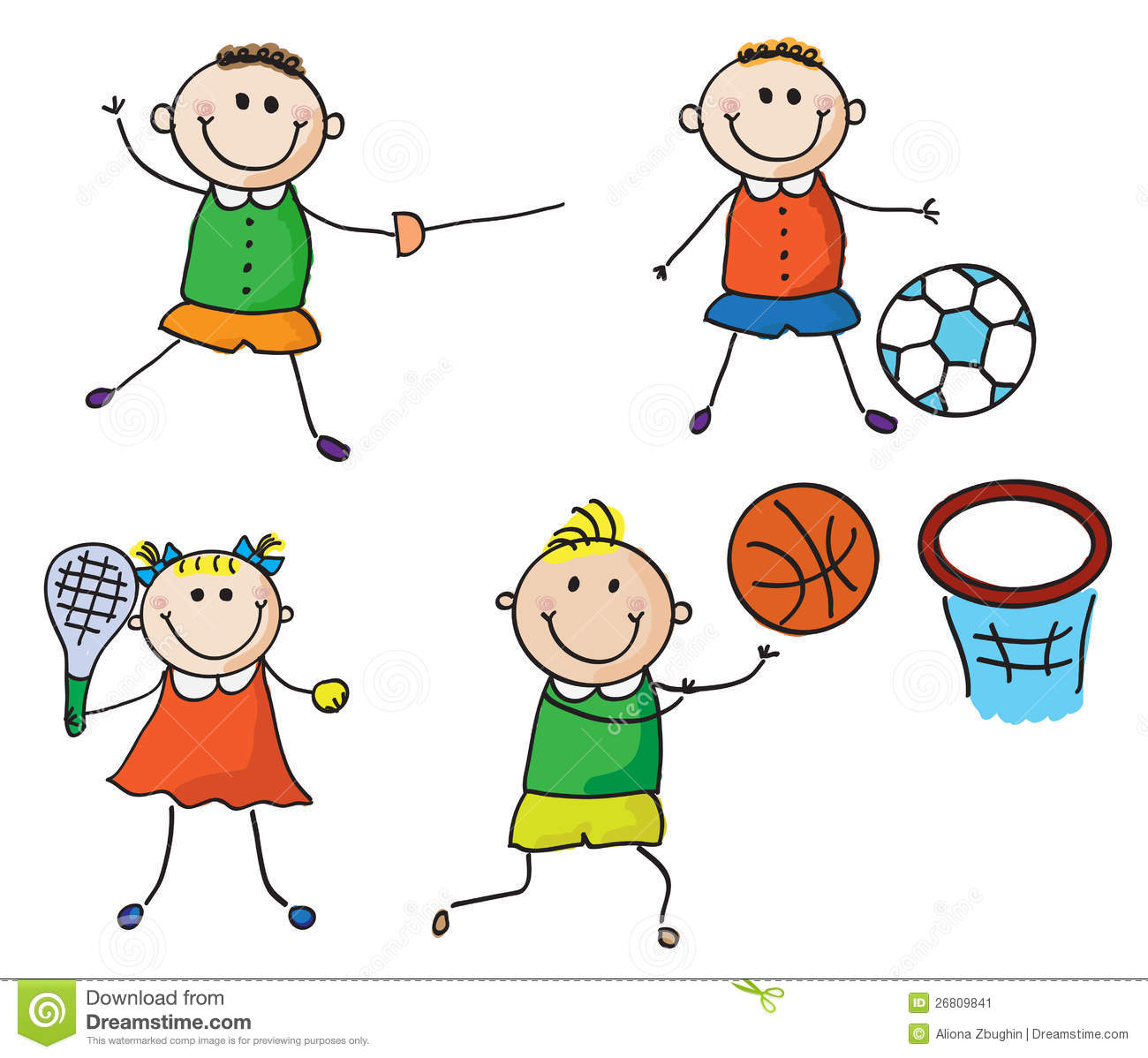 Clipart kostenlos sport png black and white Sport Cartoon Clipart - Clipart Kid png black and white