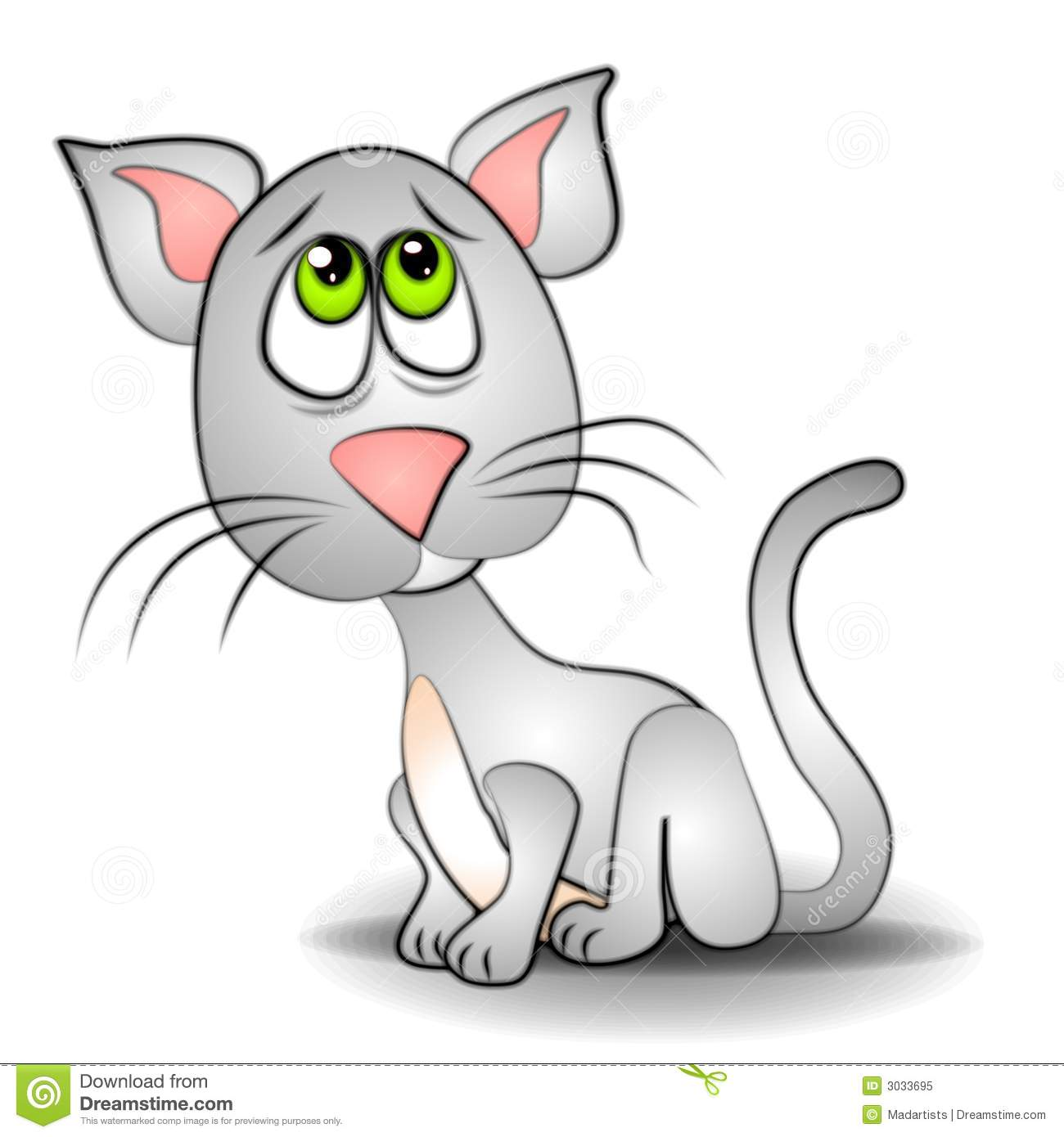 Clipart ktty with big eyes png black and white library Sad Eyes Cat Kitten Clip Art Royalty Free Stock Photo - Image: 3033695 png black and white library