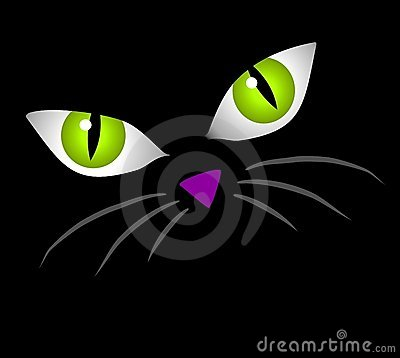 Clipart ktty with big eyes jpg black and white download Isolated Black Cats Clip Art Royalty Free Stock Images - Image ... jpg black and white download