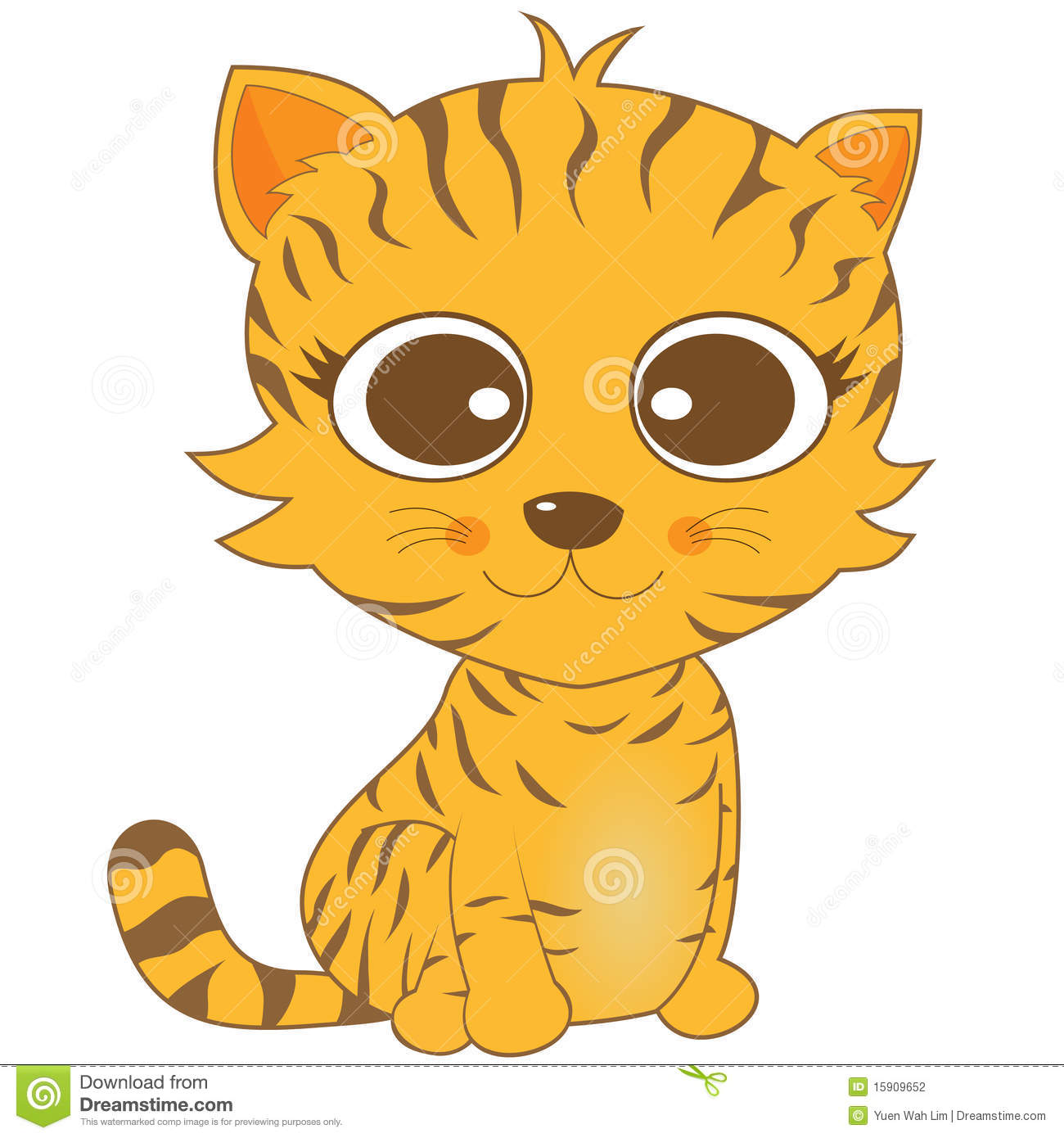 Clipart ktty with big eyes jpg transparent download Cartoon Cat Face Eyes Clip Art Stock Photos, Images, & Pictures ... jpg transparent download